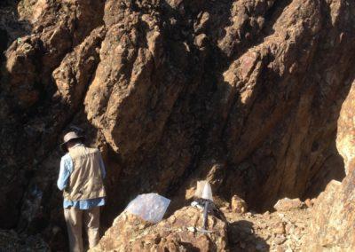 Tourmaline breccia outcrop